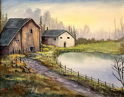 Old Barns Art Print
