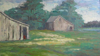 Painting - Old Barns by Sharon Franke