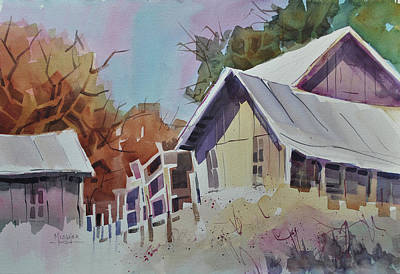 Shed Painting - Old Barns by Spencer Meagher