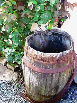 Photograph - Old Barrel by Stephanie Moore