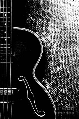 Old Bass Guitar Art Print
