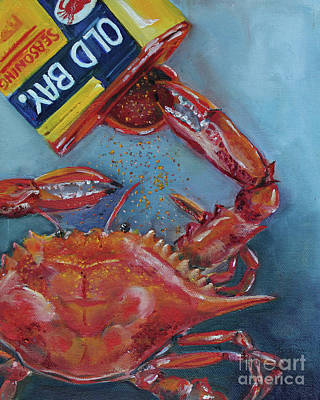 Painting - Old Bay Crab by Kristine Kainer