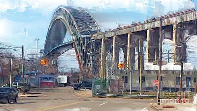 Old Bayonne Bridge Art Print by Rod Pena