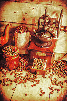 Arabica Photograph - Old Bean Mill Decor. Kitchen Art by Jorgo Photography - Wall Art Gallery