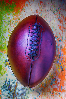 Photograph - Old Beautiful Leather Football by Garry Gay