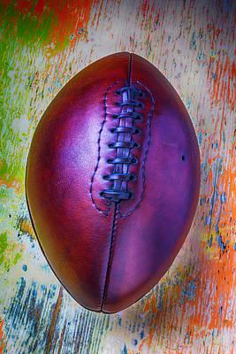 Old Beautiful Leather Football Art Print