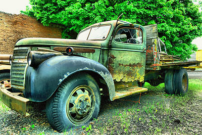 Old Trucks Photograph - Old Beauty With Broken Window by Jeff Swan