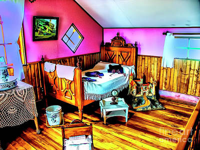 Photograph - Old Bedroom by Rick Bragan
