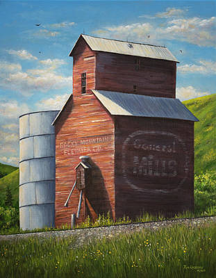 Painting - Old Belt Elevator by Kim Lockman
