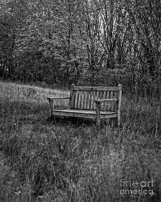 Photograph - Old Bench Concord Massachusetts by Edward Fielding