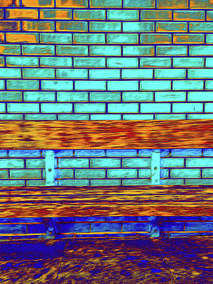 Abstract Digital Art Photograph - Old Bench Painting by Tom Gowanlock