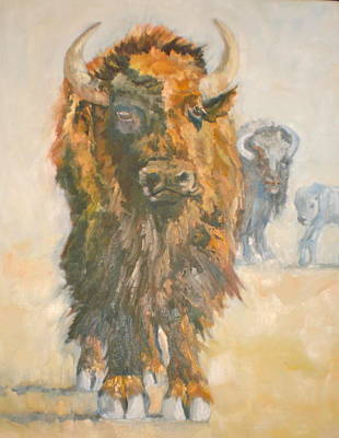 Old Benton Buffaloes Art Print