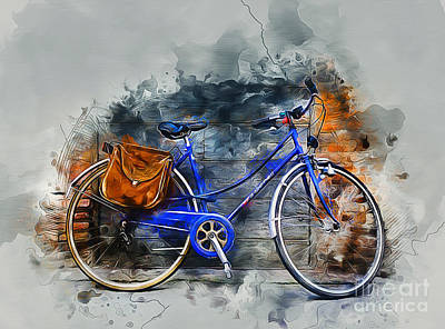 Mixed Media - Old Bicycle by Ian Mitchell