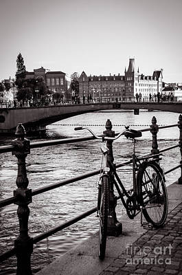 Bicycles Photograph - Old Bicycle In Central Stockholm by RicardMN Photography