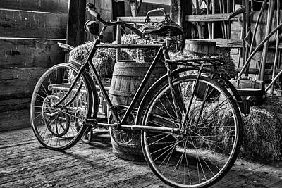 Art Print featuring the photograph Old Bicycle by Stuart Litoff
