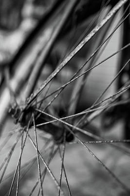 Photograph - Old Bicycle Wheel by Rick Berk