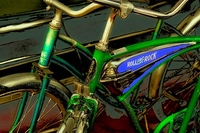 Bicycle Photograph - Old Bicycles by David Patterson