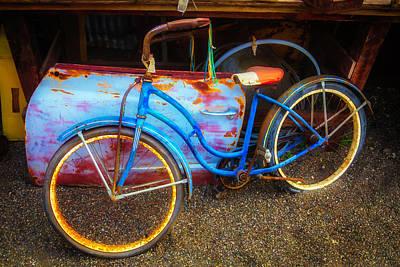 Photograph - Old Bike In Junkyard by Garry Gay