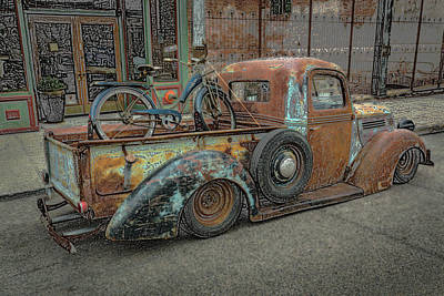 Photograph - Old Bike In Old Truckbed by Rick Strobaugh