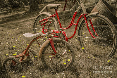 Childrens Books Digital Art - Old Bikes For Sale by Randy Steele