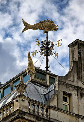 Photograph - Old Billingsgate Market Weather Vane by Shirley Mitchell