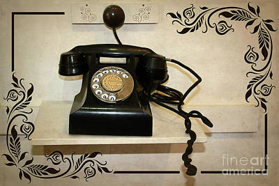 Photograph - Old Black Telephone By Kaye Menner by Kaye Menner