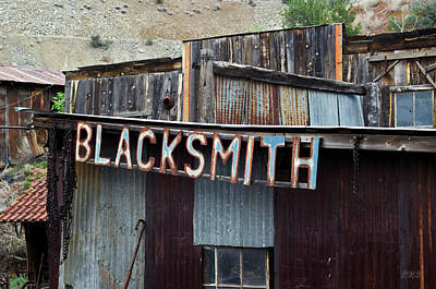 Photograph - Old Blacksmith Shop Sign - Color  by David Gordon