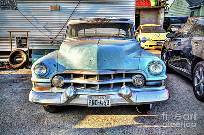 Photograph - Old Blue Cadillac by Savannah Gibbs