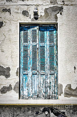 Framed Old Town Door Photograph - Old Blue Door by Antony McAulay