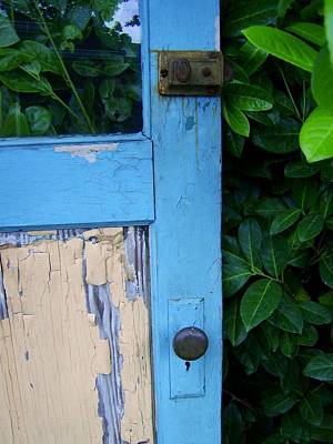 Photograph - Old Blue Door by Patricia Strand