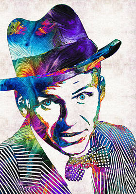 Sinatra Painting - Old Blue Eyes - Frank Sinatra Tribute by Sharon Cummings