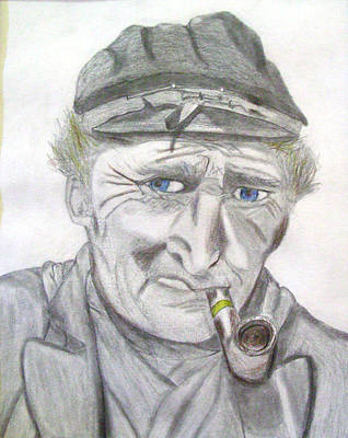 Old Blue Eyes Drawing - Old Blue Eyes by Gary Stull