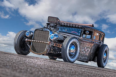 Street Rod Photograph - Old Blue Eyes by Gill Billington