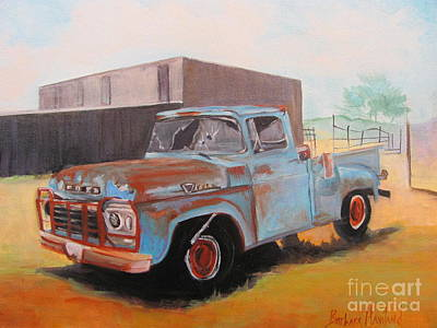 Painting - Old Blue Ford Truck by Barbara Haviland