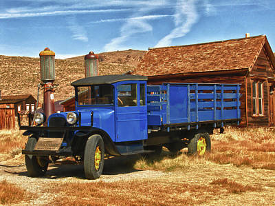 Photograph - Old Blue 1927 Dodge Truck Bodie State Park by James Hammond