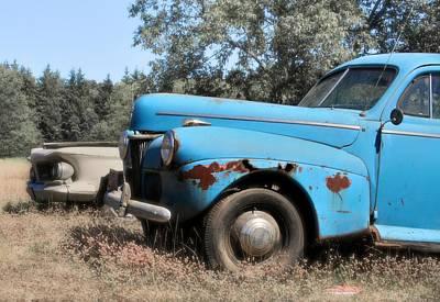 Ford Sedan Photograph - Old Blue by Odd Jeppesen