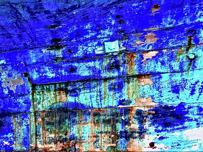 Photograph - Old Blue Paint by Stephanie Moore