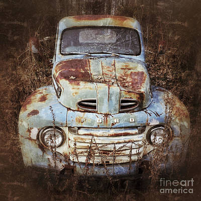 Photograph - Old Blue by Terry Rowe