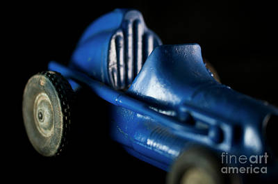 Photograph - Old Blue Toy Race Car by Wilma Birdwell