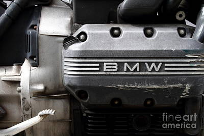 Old Bmw Motorcycle Engine . 7d13654 Print by Wingsdomain Art and Photography