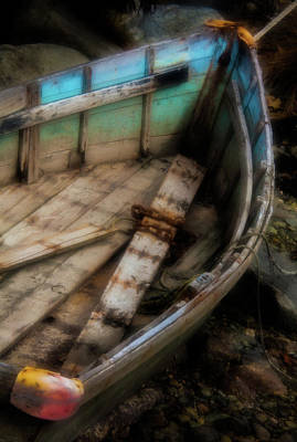 Old Boat 2 Stonington Maine Print by David Smith