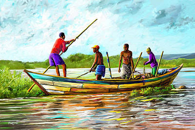 Painting - Old Boat by Anthony Mwangi