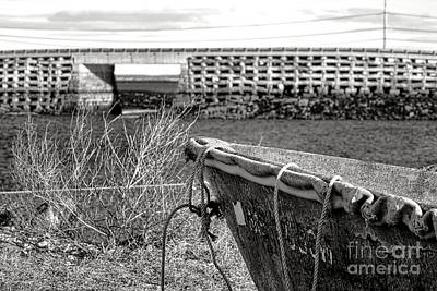 Old Boat At The Cribstone Bridge Art Print by Olivier Le Queinec