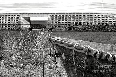 Old Boat At The Cribstone Bridge Art Print