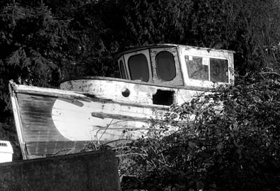 Photograph - Old Boat Covered In Vines by Karen Molenaar Terrell