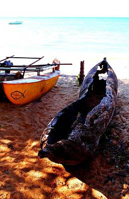 Photograph - Old Boat In Malawi by Dora Hathazi Mendes