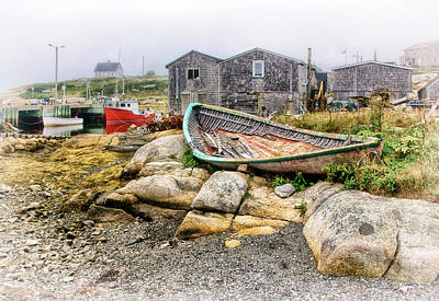 Photograph - Old Boat In Peggys Cove by Carolyn Derstine
