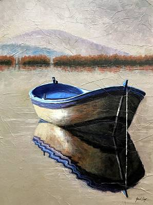 Old Boat Art Print by Janet King