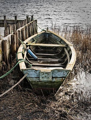 Old Boat Art Print by Mike Santis