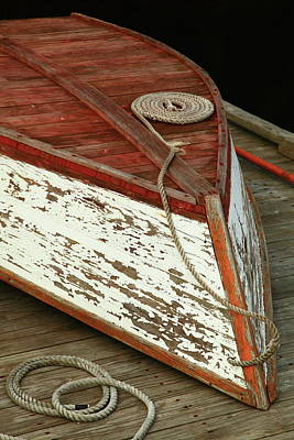Photograph - Old Boat On The Dock by Roupen  Baker